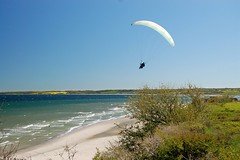 Paragliding above the cliff (cgerull) Tags: sea cliff germany balticsea shore paraglider ostsee steilkste schleswigholstein hohwacht
