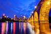 A Golden Night (Sue.Ann) Tags: minnesota river mississippi downtown minneapolis mississippiriver downtownminneapolis stonearchbridge