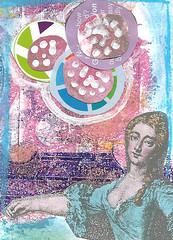 Full-Moon-ATC (thewritingreader) Tags: collage monoprint acrylic mixedmedia pastels