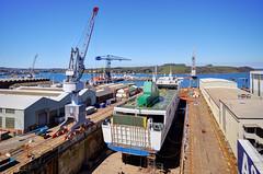 The docks at Falmouth, Cornwall (Baz Richardson) Tags: cornwall ships cranes falmouth drydock harbours falmouthdocks