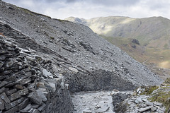 Quarry Ruins and Footpath, Coniston (debbieyare) Tags: mountains industry landscape industrial lakedistrict coniston quarry slatequarry theoldmanofconiston debbieyare