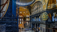 Preserving History - Hagia Sophia (Aleem Yousaf) Tags: history turkey photography photo nikon walk indoor istanbul scafolding sophia sultanahmet d800 hagia ayasofia preserving 1835mm