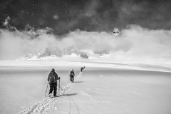 Arctic Station... (Pawel A K) Tags: people blackandwhite snow mountains alps europe glacier mountaineering chamonix aiguilledumidi 2015 theworldthroughourlenses
