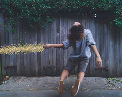 Surrender (elliftheartist) Tags: selfportrait outdoors gold fineart levitation conceptual storytelling surrealphotography elliftheartist