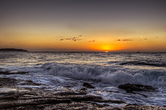 Give me a light (JustAddVignette) Tags: australia clouds dawn deewhy early headland landscapes newsouthwales northernbeaches ocean rocks seascape seawater sky sun sunrise sydney water waves