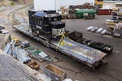 NS 8866 Cab on Flatcar (DFaustAltoona) Tags: dc conversion pennsylvania ns shops ac rebuild juniata altoona 8866 d940c