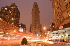 Flatiron at Night (Stephen Guilbert) Tags: nyc newyorkcity longexposure nightphotography travel light newyork night manhattan flatironbuilding flatiron lighttrail nikond3300