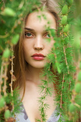 Olga (lucrecia lee) Tags: portrait forest green greenery girl gorgeous graceful face fulllips fashion woman longhair beauty beautiful bigeyes blonde youngwoman pretty