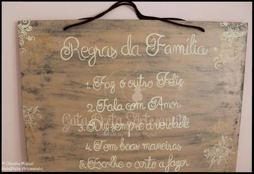 """Quadro """"Regras da Família"""""""