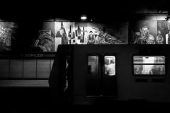 (Ivn Rubn) Tags: street city light shadow urban bw luz monochrome mxico contrast train contraluz subway tren calle time metro shapes ciudad places sombra bn lugares rincones contraste instant urbano gloom formas contemplative backlighting contemplation corners tiempo instante penumbra monocromtico contemplacin contemplativo cdmx cpilco