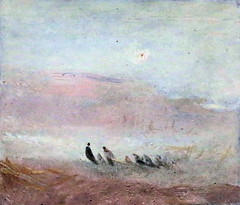IMG_1810O Joseph Mallord William Turner. 1775-1851. Londres. Figures on a Beach. Figures sur une plage.  vers 1845.       Londres Tate Britain (jean louis mazieres) Tags: greatbritain london museum painting joseph unitedkingdom william muse londres museo turner peintures tatebritain peintres grandebretagne mallord
