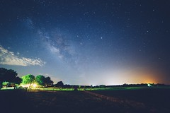 The Milky Way (Chris Mourra) Tags: ranch longexposure trees sky usa colors field grass night clouds canon stars lights big exposure texas open earth wide fences first galaxy astrophotography vignette southtexas milkyway nightlandscape landsape ranchhouse canon6d vsco cityights
