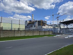 Chernobyl nuclear power plant (justinvandyke) Tags: monument radiation nuclear ukraine disaster soviet sarcophagus biohazard chernobyl postapocalyptic nuclearpowerplant nuclearreactor exclusionzone nucleardisaster