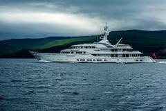 Plutocrat Express...... (Dafydd Penguin) Tags: hampshire ii superyacht yacht oil billionaire west coast scotland cruise cruising sailboat boat vessel tobermory sound mull nikon d600 nikkor 50mm af f14d