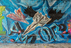 East End Street Art (Mabacam) Tags: streetart london wall painting graffiti stencil mural origami paint wallart urbanart shoreditch freehand publicart aerosolart spraycanart stencilling eastend railwaytunnel 2016 paperplane urbanwall airbornemark