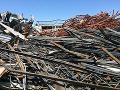 Sir James Dunn Demolition: Scrap Metal Debris Piles (grecomic) Tags: debris demolition soo saultstemarie scrapmetal secondaryschool sirjamesdunn collegiateandvocationschool