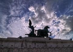 Vittoria Alata - Vittoriano (ansacariofoto) Tags: italy rome roma architecture clouds nuvole victory tokina hdr vittoria vittoriano atx116prodx tokina1116 nikond5000