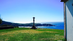 Entrada a la Ra de Cedeira, desde la Ermita de San Antn de Corveiro. (lumog37) Tags: ra estuary costadegalicia costa coastline crucerodepiedra stonecross