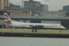 G-CDEB (Rob390029) Tags: city london plane airport 2000 aircraft aviation transport civil transportation british passenger ba airways eastern propeller eze saab prop civilian lcy eglc gcdeb
