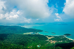 2014-09-03 144003 (abusen) Tags: blue sky cloud green beach nature water colors clouds landscape island boat skies cloudy hills malaysia langkawi landescape lanscape landcape greeny