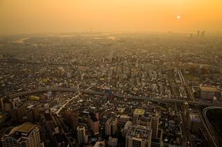from 288 meters high (Abeno Harukas, Osaka)