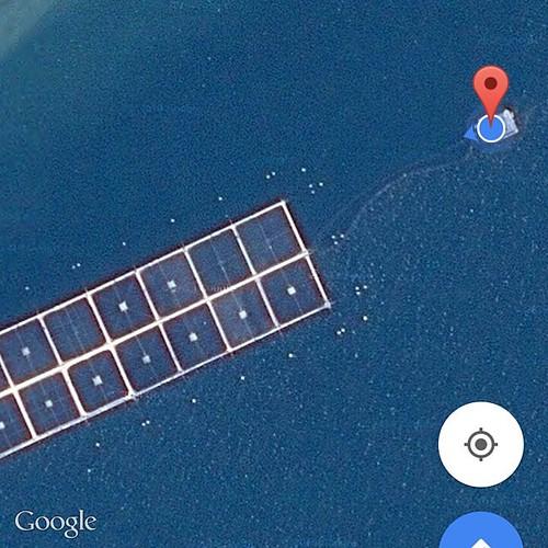 Segun google ahí me encuentro. A la xuxa, en medio de nada. #guaitecas #lejosdecasa #alacsm