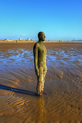 ANOTHER PLACE (ANTONY GORMLEY), CROSBY BEACH, CROSBY, MERSEYSIDE, ENGLAND. (ZACERIN) Tags: paul east and another gormley largest united art beach place blue christopher sky statue photography beach north blue of nature england nikon sculpture image kingdom crosby another gormley flow uk pictures statue beach antony history sculpture landscapes hdr england liverpool north britains statues britain angel landmarks seaside sunny statues d800 merseyside zacerin east crosby ebb
