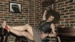 @Murphy's Pub (mikko@gunstudio) Tags: life red portrait people white black hot sexy art stockings girl beautiful look fashion portraits studio model shoes gun cigarette background style brunette popular seductive gunstudio