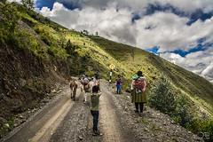 The road to the village (Angel Taipe) Tags: road people rural walking landscape village carretera pueblo paisaje