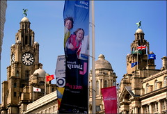 Simply a Scouse snapshot (* RICHARD M) Tags: windows heritage sunshine liverpool buildings happy spring waterfront towers may smiles culture landmarks happiness flags clocktower unescoworldheritagesite threegraces banners domes unionjack unionflag liverbird ports pierhead springtime flagpoles royalliverbuilding historicbuildings capitalofculture publicclocks scouse listedbuildings portofliverpoolbuilding seaports cunardbuilding europeancapitalofculture liverpoolskyline museumofliverpool liverpoolsthreegraces inmyliverpoolhome cityofmusic maritimemercantilecity blueskiesupabove liverpoolspierhead scousesnapshot onemagnificentcity