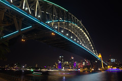 IMG_0673 (agalexei) Tags: longexposure travel bridge blue light sunset sky colour water skyline night long exposure harbour sydney vivid australia vividsydney
