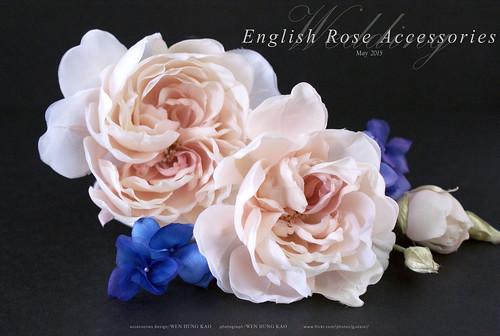 英倫玫瑰花飾