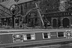 IMG_3802 (SaxeT1970) Tags: bw water monochrome canon boats canal blackwhite locks waterway britishwaterways canalboats 600d nifty50 fiftymm canon600d