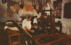 Printing Office - Williamsburg, Virginia (The Cardboard America Archives) Tags: vintage virginia office postcard colonial printing williamsburg