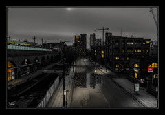 Whitworth Street (A Digital Artist) Tags: street england sky building art architecture clouds dark manchester canal northwest lancashire highrise citycentre hdr manchestercity rochdalecanal canon1855mm railwaylines plantform kevinwalker canon1100d