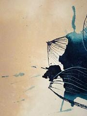 DSC09509 (scott_waterman) Tags: blue detail ink watercolor painting paper lotus gouache bluehue lotusflower scottwaterman