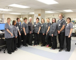 Happy Nurses Week! Shown: nurses in DeGowin Blood Center