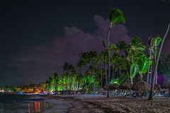 Caribbean Beach at Night - 1023 (RG Rutkay) Tags: beach night clouds stars shore palmtree tropical caribbean puntacana dominicarepublic blaunaturaresort