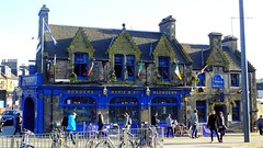 Ryrie's Pub, spring evening (byronv2) Tags: blue sun sunlight colour building history sunshine architecture bar restaurant scotland spring pub edinburgh sunny haymarket 1862 edimbourg ryries ryriespub