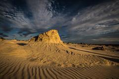 Mungo Sunset (robertdownie) Tags: sunset lake tree bush desert hill dry australia cliffs erosion nsw newsouthwales outback scrub lunette mungo eroded wallsofchina