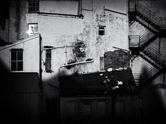 Darkitechture (Neil Johansson LRPS) Tags: uk windows light urban blackandwhite white black building monochrome wales architecture stairs dark landscape photography photo noir fuji shadows darkness cymru photograph fujifilm cinematic llandudno x20 filmnoir northwales conwycounty fujifilmx20 urbanwales