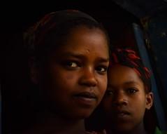 Wolayta Girls, Ethiopia (Rod Waddington) Tags: africa girls two portrait people female children village african interior traditional culture indoor tribal afrika ethiopia tribe ethnic cultural ethnicity afrique ethiopian thiopien etiopia ethiopie etiopian wolayta saware wollaita