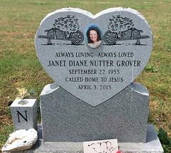 Grover Headstone (eloisedv) Tags: oklahoma cemetery headstone gravemarker cartercounty lonegrove