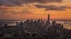 The Fairytale of New York (Andrew G Robertson) Tags: new york city sunset usa sun newyork set skyline america canon cityscape manhattan united esb 5d empirestatebuilding states rise mkiii mk3 2470mm canon5dmkiii canon2470mm28ii
