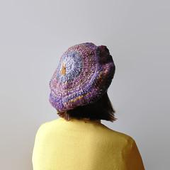 Ombr Purple Beret (branda knits) Tags: purple handmade knits beret tam branda