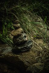#255 of 365 days - Stones (Ruadh Sionnach) Tags: lake inspiration nature water grass rio stone rural forest river lago waterfall woods stones farm natureza grama bosque celtic inspire celt floresta cachoeira witchcraft pedra mystic pedras pagan fazenda inspirao paganismo empilhagem
