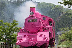 Pink SL at Wakasa Railway (18) (double-h) Tags: sl tottori jnr steamlocomotive c12   eos6d   pinksl wakasarailway  c12 ef100400mmf4556lisiiusm c12167 wakasastation classc12 c12 sl