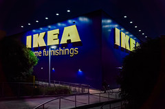 Bicycling at Ikea (Markus Jaaske) Tags: plaza new light urban man black building ikea bike bicycle sign retail architecture modern night facade mall dark square store construction commerce exterior realestate market furniture sydney property australia center housewares swedish structure storage illuminated business company sidewalk riding commercial storefront assemble bicyclist shoppingcenter renovation trade economy outlet homedecor doityourself furnishings scandinavian tempe