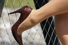 on the fence (feldhaze) Tags: highheels nylons