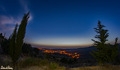 (Salim El Khoury) Tags: city trees sky lebanon mountain night dark landscape photography view angle wide perspective creative cedars barook